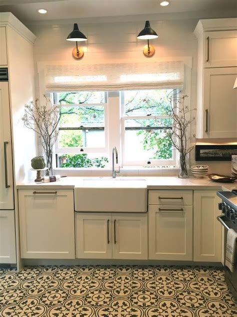 light above kitchen sink traditional home show house tour and details to copy 6955