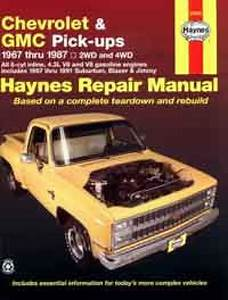 Chevrolet Gmc Pick Ups 1967 1987 Haynes Service Repair