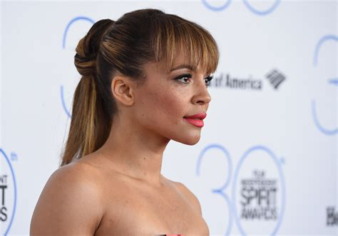 Carmen Ejogo Ponytail   Long Hairstyles Lookbook   StyleBistro