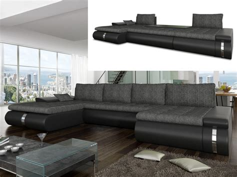 canapé d angle panoramique convertible canapé d 39 angle panoramique convertible en tissu et simili