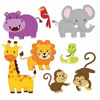 Jungle Animal Clipart Animals Friends Cartoon Clip