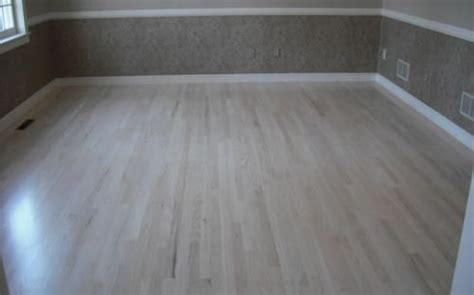red oak bleached white stain  floors  sanded