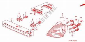 Taillight  1  For Honda Cars Civic 2 0 5 Doors 5 Speed