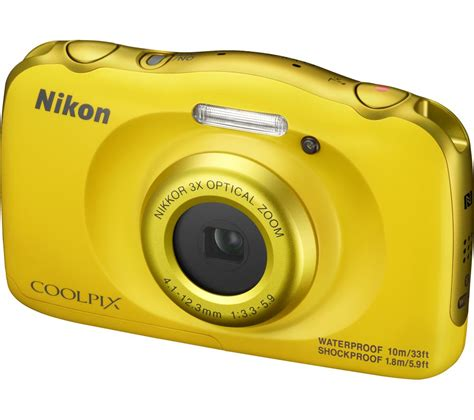 nikon coolpix compact nikon coolpix w100 tough compact yellow deals