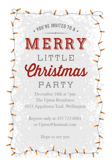 merry  party christmas invitation template