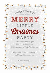 Template For Christmas Invitation A Merry Little Party Christmas Invitation Template Free
