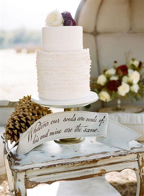 Rustic Elegant Winter Wedding Inspiration 100 Layer Cake