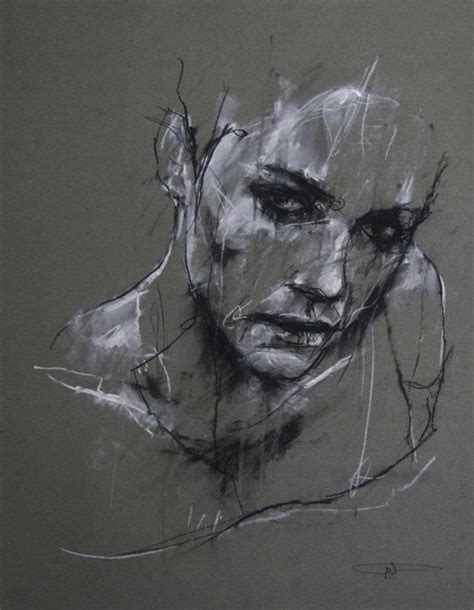artist denning charcoal and chalk contemporary sketch portrait