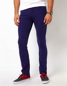 Vans Jeans V76 Skinny Fit Blue Overdye in Blue for Men (blueoverdye) | Lyst