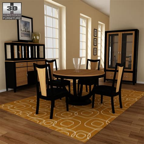 Dining Room 03 Set 3d Model Hum3d