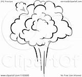 Explosion Poof Burst Clipart Comic Vector Illustration Royalty Tradition Sm Coloring Template sketch template