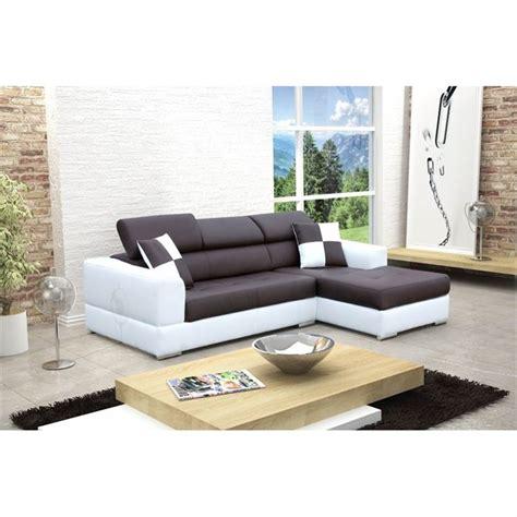 canapé noir et blanc but canape d angle droit design noir et blanc madrid achat