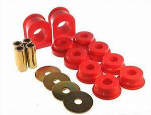 Energy Suspension 4 5186r Red Front Sway Bar Bushing Set