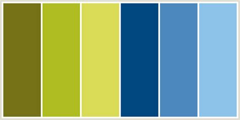 Blue And Yellow Color Palette  Home Design