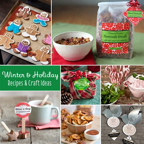 30 winter holiday recipes craft ideas gift favor
