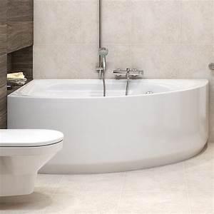 Vente De Baignoire En Ligne : baignoire asymetrique en acrylique 160 x 100 cm achat vente ~ Edinachiropracticcenter.com Idées de Décoration