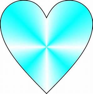 Cyan Heart Free Stock Photo