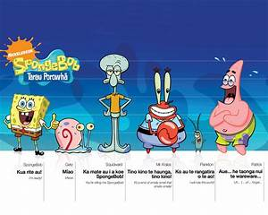 American top cartoons: Spongebob squarepants characters