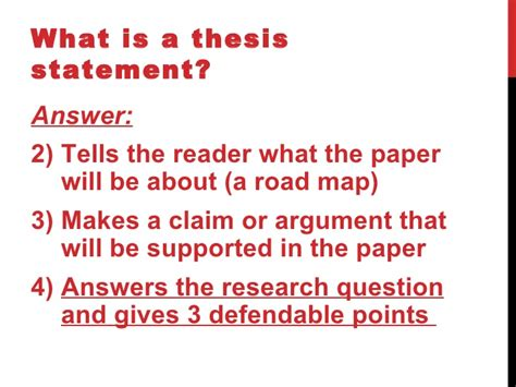 Thesis statement about helping others