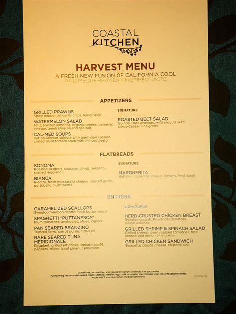 coastal kitchen menu oasis of the seas 2280