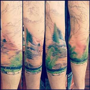 Image Gallery landscape pine tree tattoos