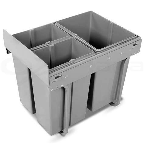waste baskets for kitchen cabinets pull out bin kitchen 3 slide garbage rubbish waste basket 8908
