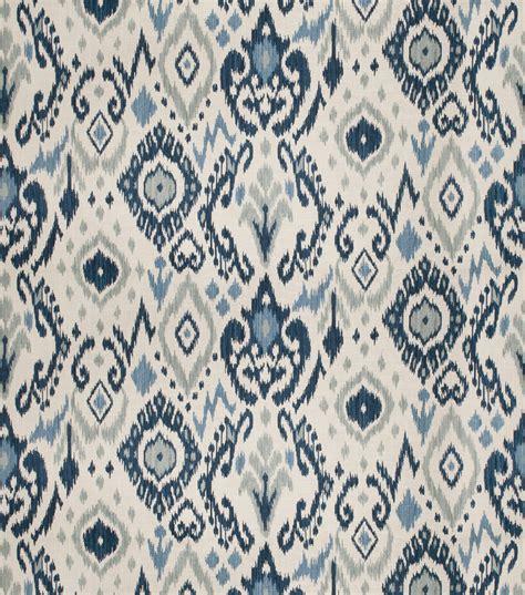 Design Upholstery Eaton by Eaton Square Print Fabric 03366 Blue Jo