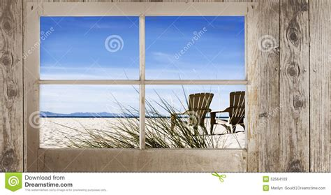 window  beach view stock image image  ocean beach