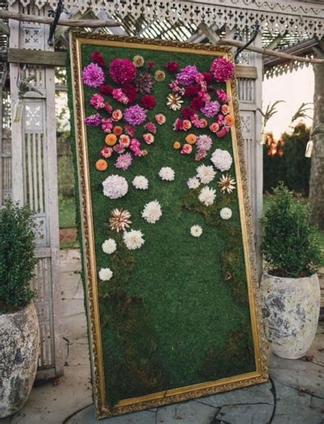 the 2015 wedding trend 22 flower wall backdrops