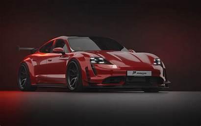 Taycan Porsche Turbo Prior Tuned Mean Looks