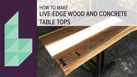 how to make a live edge table how to make a concrete and wood table top youtube