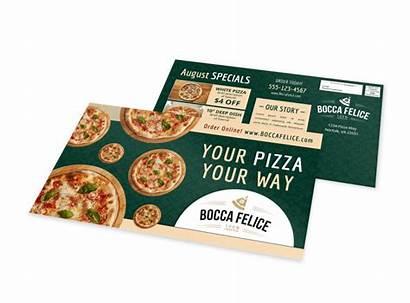Pizza Eddm Restaurant Classic Postcard Template Templates