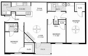 3 bedroom home floor plans photos and video With three bedroom house blue print