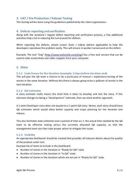 Agile Methodology Qa Resume by Agile Qa Process