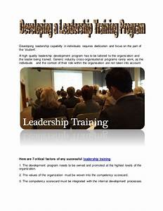 Developing a leadership training program