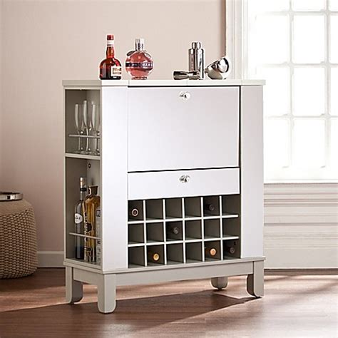 mirrored bar cabinet southern enterprises mirage mirrored fold out wine bar