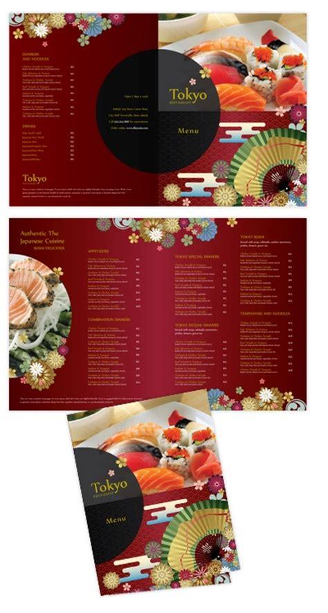 To Go Menu Template Free by Japanese Sushi Restaurant Bi Fold To Go Menu Template