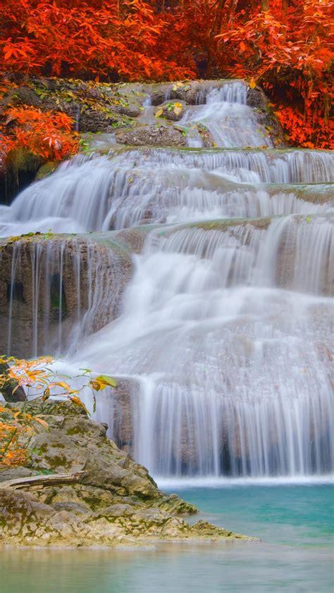 wallpaper erawan falls waterfall erawan national park thailand   nature