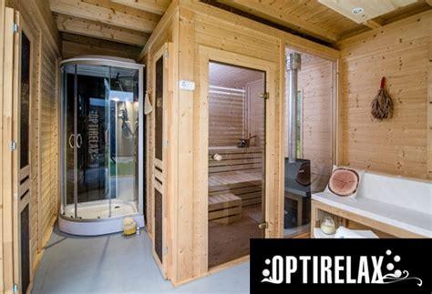 gartensauna mit vorraum sauna garten haus h430 optirelax 174