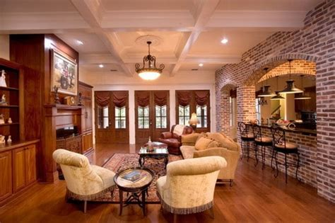 country style room  brown walls