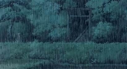 Rain Heavy Totoro Anime Gifs Forest Ghibli