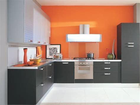 orange gray minimalist kitchen color combination  ideas