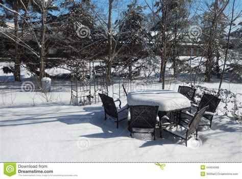 Thick Snow Covered Outdoor Table In Winter Season Royalty. Small Patio Landscape Design Ideas. White Plastic Patio Furniture Sets. Circular Paver Patio Ideas. Back Porch Makeover Ideas. Brick Paver Patio Edging. Patio Sets On Sale Lowes. Patio Furniture For Two. Patio Table & Chair Set Cover