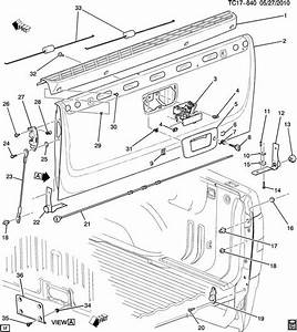 2000 Chevy Tailgate Diagram