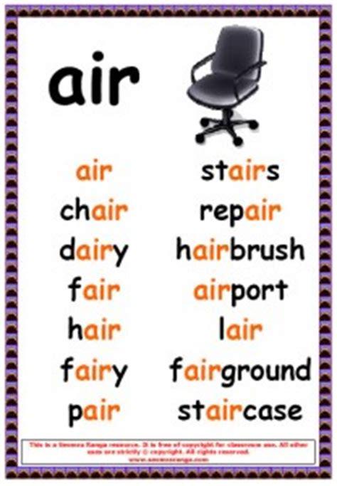phonics poster air words seomra ranga