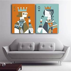 Com Buy Queen King Of Poker Home Decor Canvas On Ideas ...