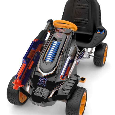 nerf car shooter pew pew nerf pedal car for blasting on the go geekologie