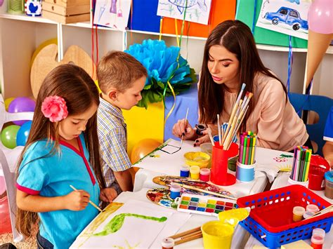 rankings early childhood education degrees 554 | bigstock Children with teacher woman pa 108270713