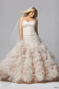 wtoo brides spring 2014 wedding dresses wedding inspirasi With pink wedding dress plus size