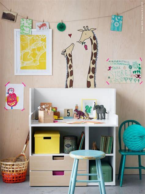 lit mezzanine avec bureau et armoire meuble rangement enfant ikea stuva